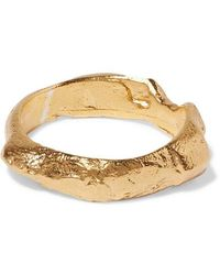 Alighieri The Edge Of The Abyss Gold-plated Ring - Metallic