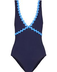Karla Colletto - New Wave Appliquéd Swimsuit - Lyst