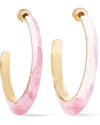 Dinosaur Designs - Resin Hoop Earrings - Lyst