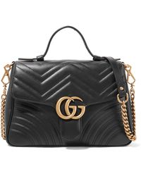 Gucci - Gg Marmont Small Quilted Leather Shoulder Bag - Lyst