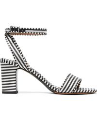 Tabitha Simmons - Leticia Striped Canvas Sandals - Lyst
