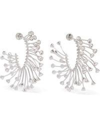 Mugler Strass Earrings - Metallic
