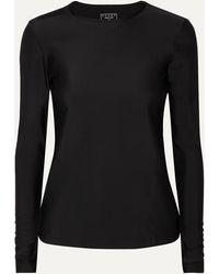 Cover + Net Sustain Stretch Recycled Rash Guard - Black