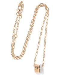 Pomellato - Iconica 18-karat Rose Gold Diamond Necklace - Lyst