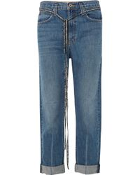 Proenza Schouler - Pswl Canvas-trimmed Jeans - Lyst