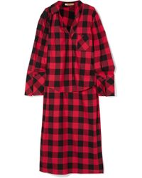 Hellessy - Kirstin Asymmetric Checked Cotton And Silk-blend Twill Shirt - Lyst