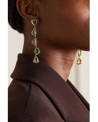 Emily P. Wheeler + Net Sustain Moss 18-karat Recycled Gold Multi-stone Earrings - Metallic