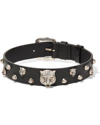 Gucci - Leather And Silver-tone Choker - Lyst