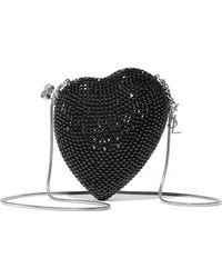 Saint Laurent - Love Box Crystal-embellished Leather Shoulder Bag - Lyst