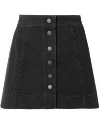 Madewell - Metropolis Stretch-denim Mini Skirt - Lyst