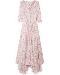 LoveShackFancy - Larissa Floral-print Cotton And Silk-blend Maxi Dress - Lyst