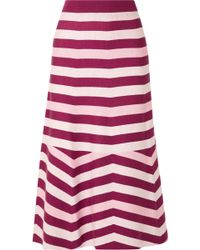 Gabriela Hearst - Striped Wool And Cashmere-blend Midi Skirt - Lyst