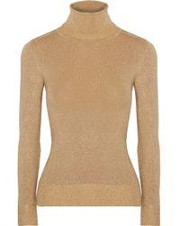 JoosTricot - Metallic Stretch-knit Turtleneck Sweater - Lyst