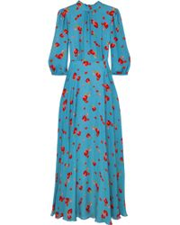 Vilshenko - Caroline Floral-print Silk-georgette Maxi Dress - Lyst