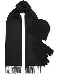 Johnstons - Cashmere Beanie, Scarf And Gloves Set - Lyst