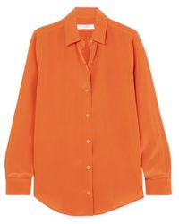 Equipment - Essential Silk Crepe De Chine Shirt - Lyst