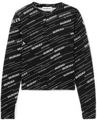 Balenciaga Cardigan Aus Einer Wollmischung Mit Intarsienmuster - Schwarz
