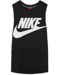 Nike - Essential Printed Stretch-jersey Tank - Lyst