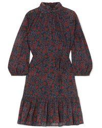 Apiece Apart Victoria Floral-print Cotton-gauze Mini Dress - Multicolor