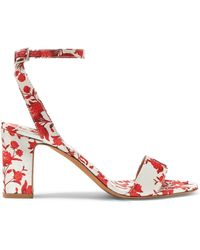 Tabitha Simmons - Johanna Ortiz Leticia Floral-print Satin Sandals - Lyst