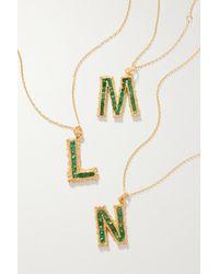 Pacharee Alphabet Vergoldete Kette Mit Smaragden - Grün