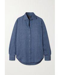 Emma Willis Jermyn Street Striped Linen Shirt - Blue