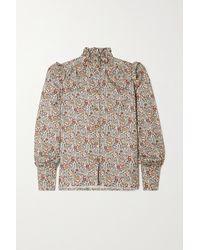 Anna Mason Deneuve Ruffled Printed Blouse - Multicolour