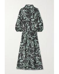 Bella Freud Emmanuelle Belted Floral-print Crepe Maxi Dress - Multicolor