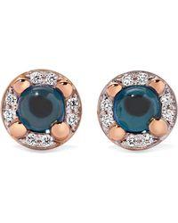 Pomellato - M'ama Non M'ama 18-karat Rose Gold, Topaz And Diamond Earrings - Lyst