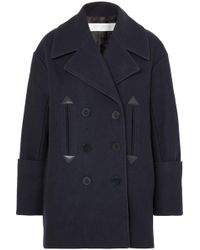 Victoria, Victoria Beckham - Oversized Double-breasted Wool-blend Felt Coat - Lyst