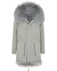Mr & Mrs Italy - Shearling-lined Cotton-canvas Parka - Lyst