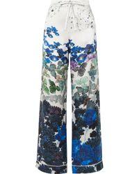 Meng - Printed Silk-satin Pajama Pants - Lyst