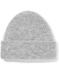 Ganni - Callahan Ribbed-knit Beanie - Lyst