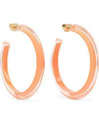 Alison Lou - Medium Jelly Lucite And Enamel Hoop Earrings - Lyst