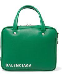 Balenciaga - Triangle Square Small Printed Leather Tote - Lyst