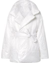 Norma Kamali - Sleeping Bag Oversized Belted Quilted Shell Coat - Lyst