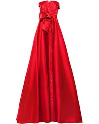 Alexis Mabille - Bow-detailed Satin-twill Gown - Lyst
