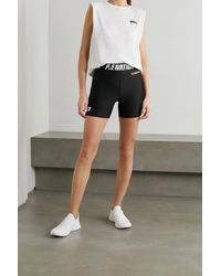 P.E Nation Agility Printed Recycled Stretch Shorts - Black