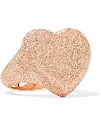 Carolina Bucci - Florentine Heart 18-karat Rose Gold Ring - Lyst