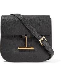 Tom Ford - Tara Small Textured-leather Shoulder Bag - Lyst