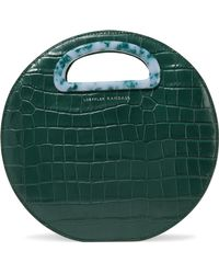 Loeffler Randall - Indy Circle Croc-effect Leather Tote - Lyst