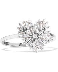 Suzanne Kalan - 18-karat White Gold Diamond Ring White Gold 7 - Lyst