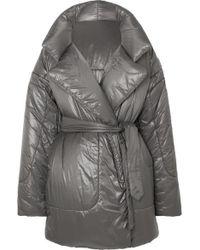 Norma Kamali Sleeping Bag Oversized Shell Coat - Grey