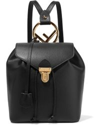 Fendi - Textured-leather Backpack - Lyst