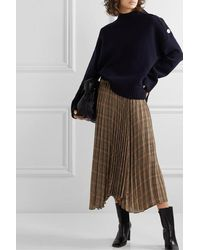 By Malene Birger Balsash Wrap-effect Pleated Checked Woven Midi Skirt - Brown