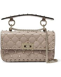 Valentino Valentino Garavani The Rockstud Spike Small Quilted Leather Shoulder Bag - Multicolor