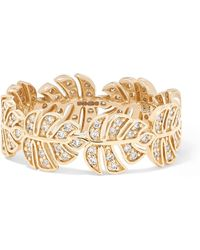 Sydney Evan - Monstera 14-karat Gold Diamond Ring Gold 7 - Lyst