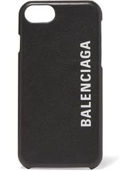 Balenciaga Printed Textured-leather Iphone 7 And 8 Case - Black