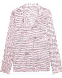 Calvin Klein - Printed Voile Pyjama Shirt - Lyst