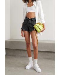 Alexander Wang Bite Distressed Denim Shorts - Black